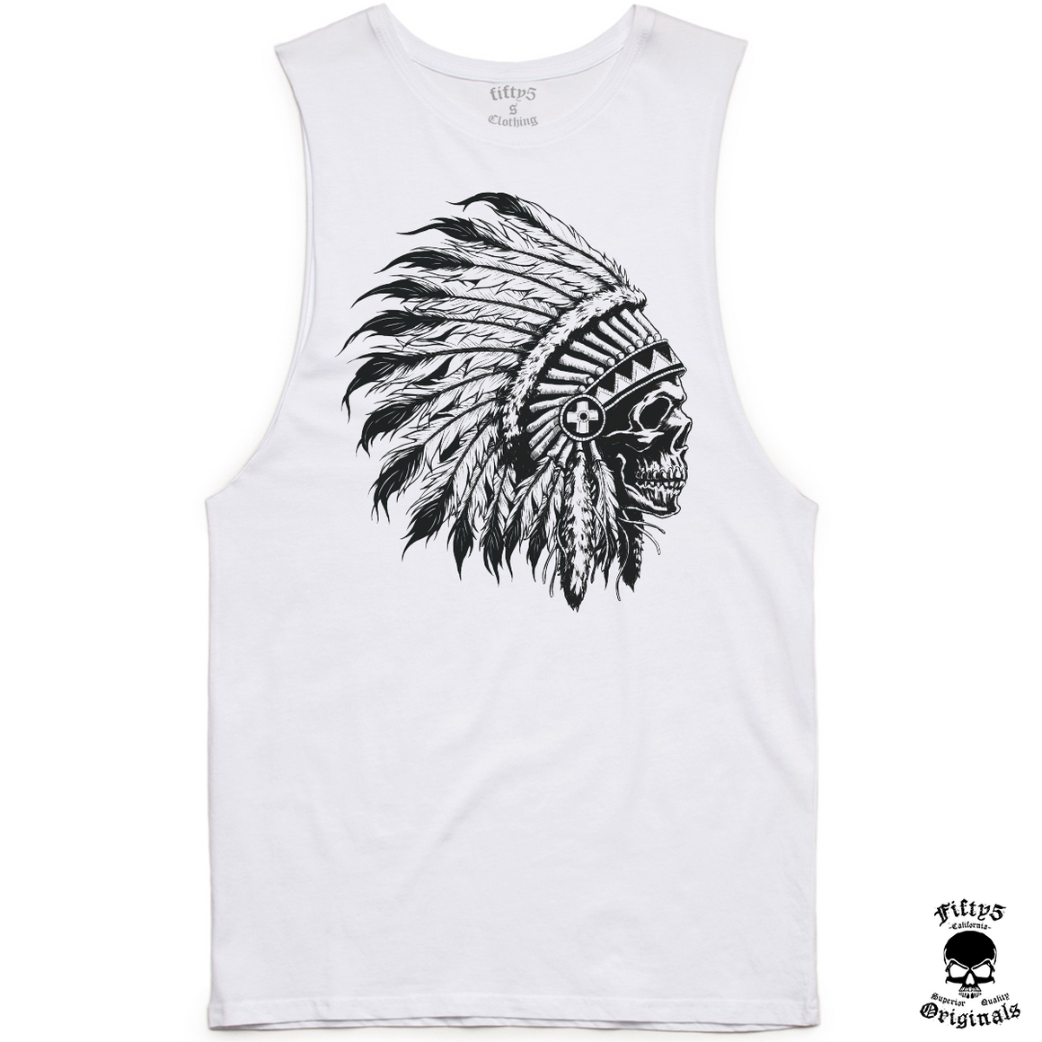 Chief Skull Mens Muscle Tank