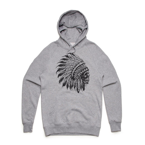 Fifty5 Chief Skull Mid Weight Pullover Hoodie