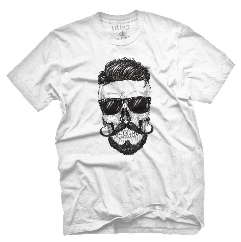 Cool Hipster Skull Men's T Shirt