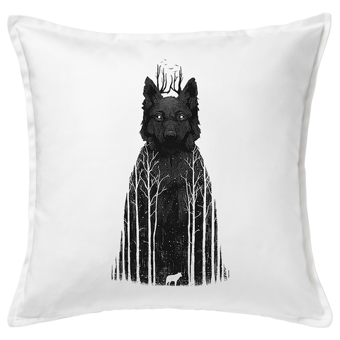 Dark Forest Feather Cushion