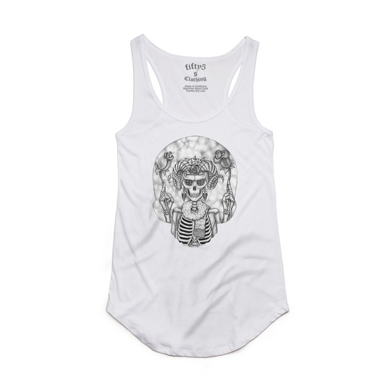 Fifty5 Aries Zodiac Women's Luxe Panel Detail Racerback Tank Top