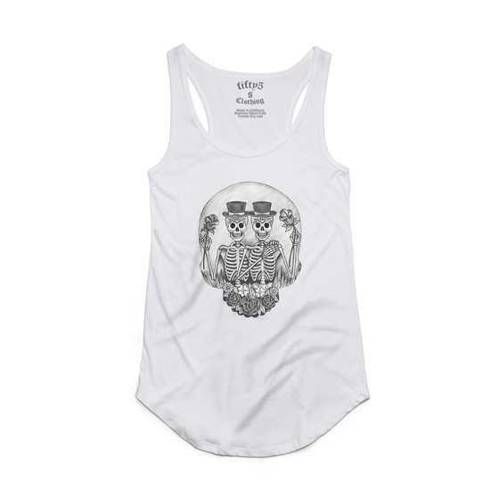 Fifty5 Gemini Zodiac Women's Luxe Panel Detail Racerback Tank Top