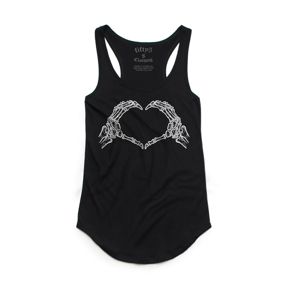 Fifty5 I Heart You Women's Luxe Panel Detail Racerback Tank Top