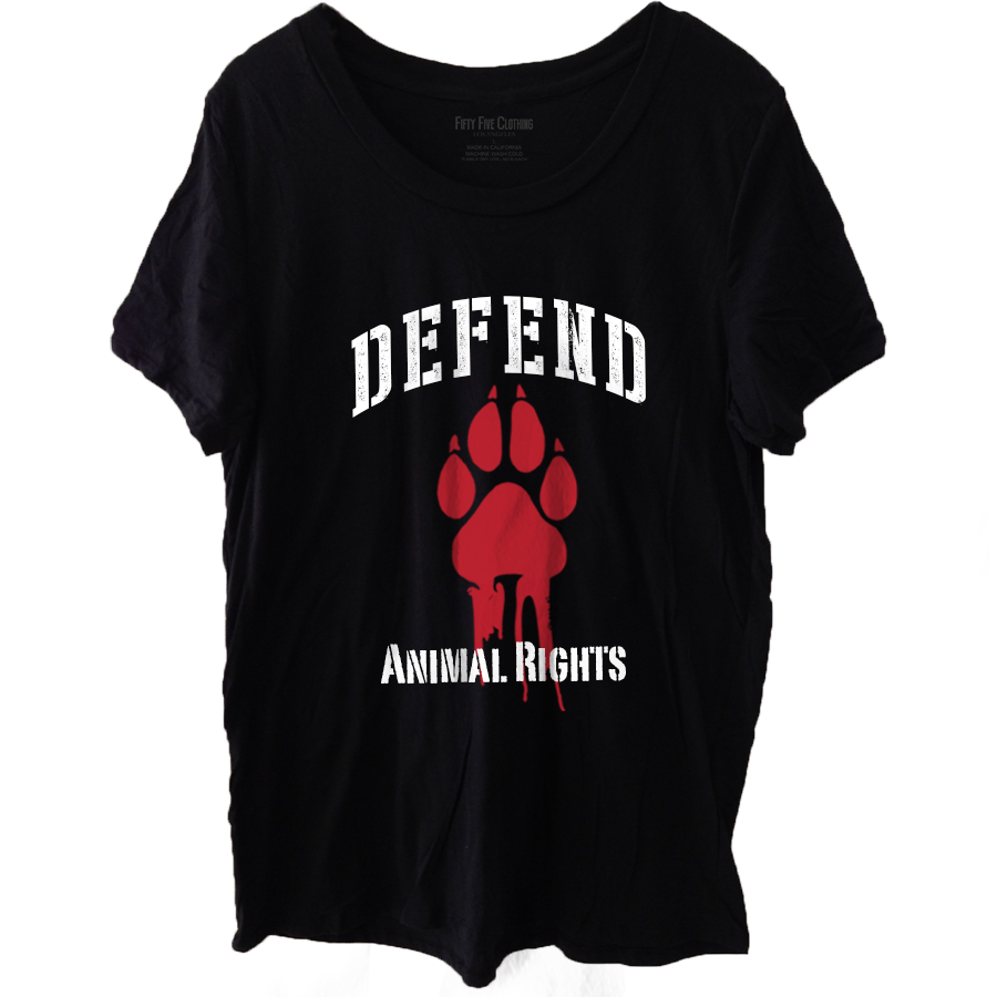 Defend Animal Rights Vintage Women's T Shirt