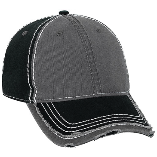 ... Vintage Washed Cotton Twill Contrast Stitch Distressed Baseball Cap ... 12297107633f