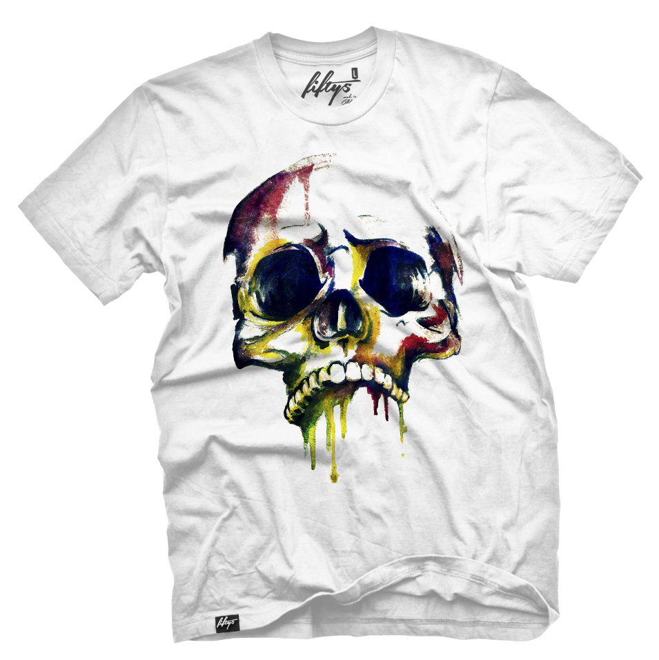 Watercolor Skull Men's T Shirt