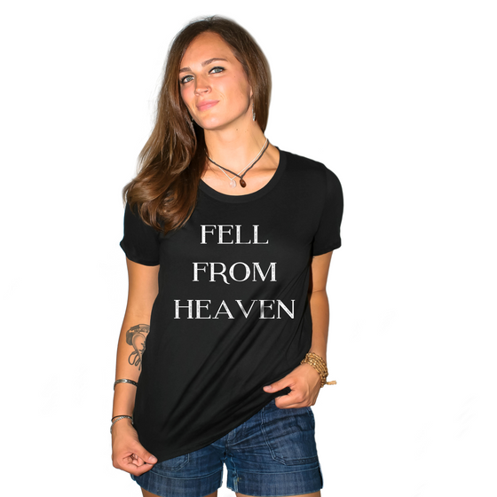 Fell From Heaven Women's Loose Fit Boyfriend T Shirt