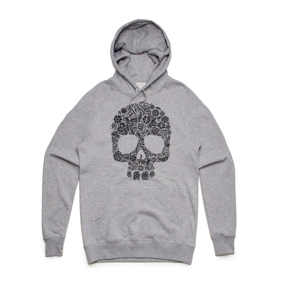 Fifty5 Floral Skull Mid Weight Pullover Hoodie