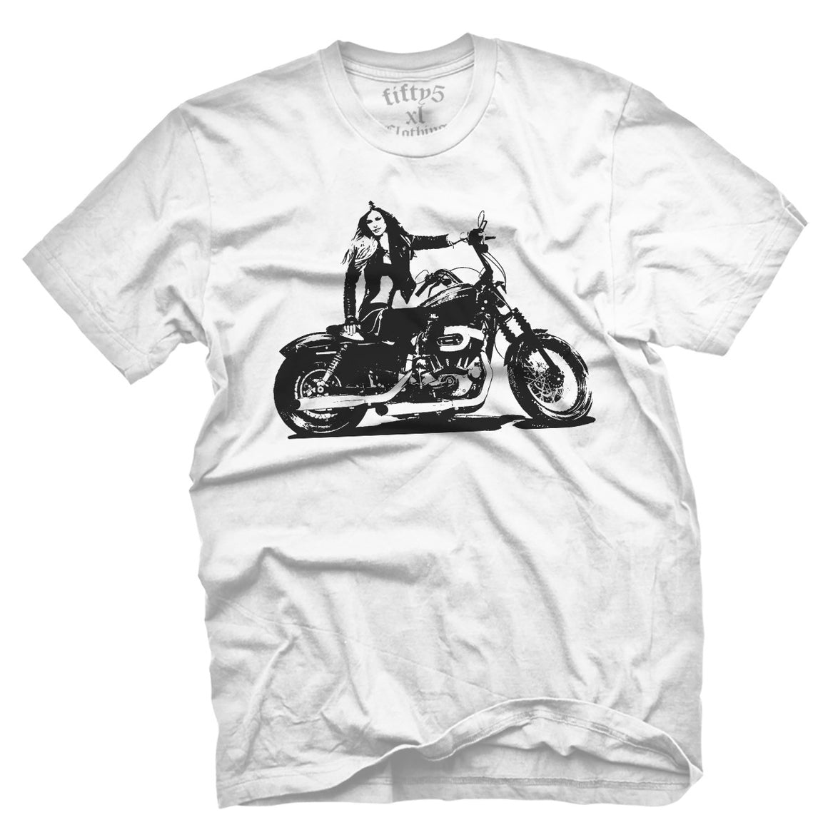 Fifty5 Harley Model Stencil Men's T Shirt