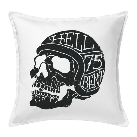 Hell Bent Skull Cushion Cover