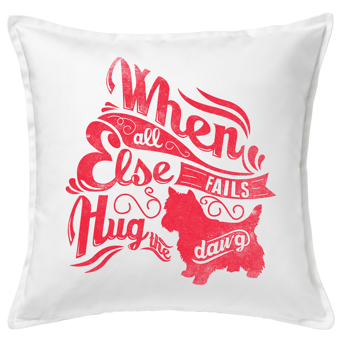 Hug The Dawg 20x20 Throw Cushion