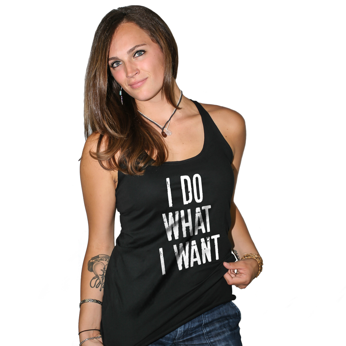 I Do What I Want Women's Racerback Tank Top
