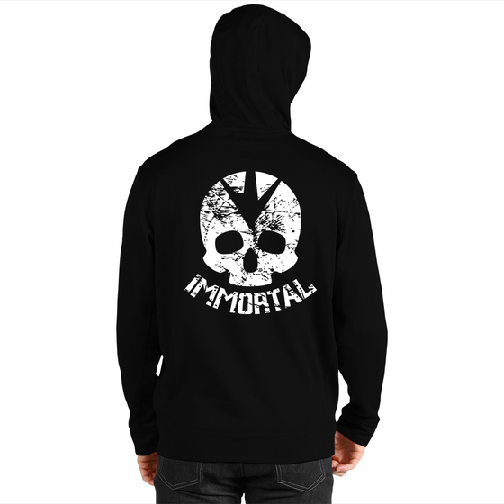 Immortal Skull Men's Zip Up Hoodie