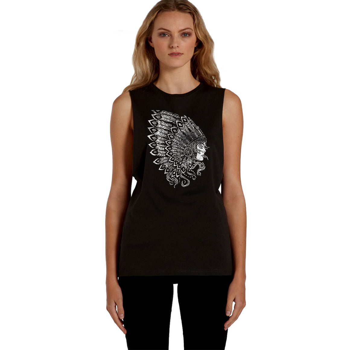 Indian Warrior Princess Womens / Unisex Muscle Tank
