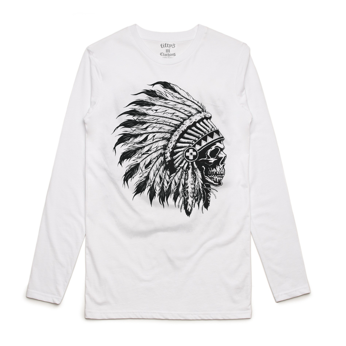 Chief Skull Mens Long Sleeve T-Shirt