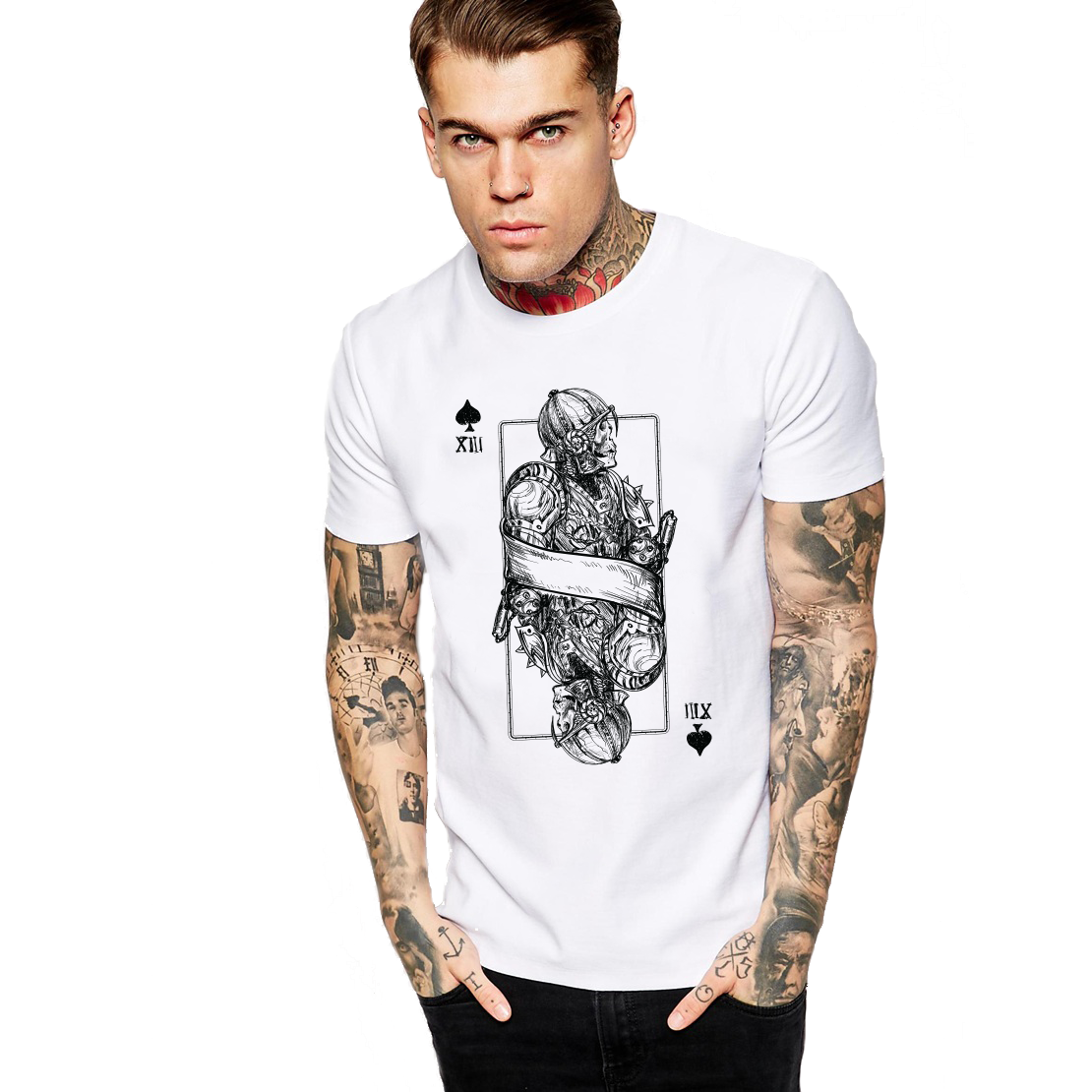 Jack of Spades Skeleton Men's T Shirt