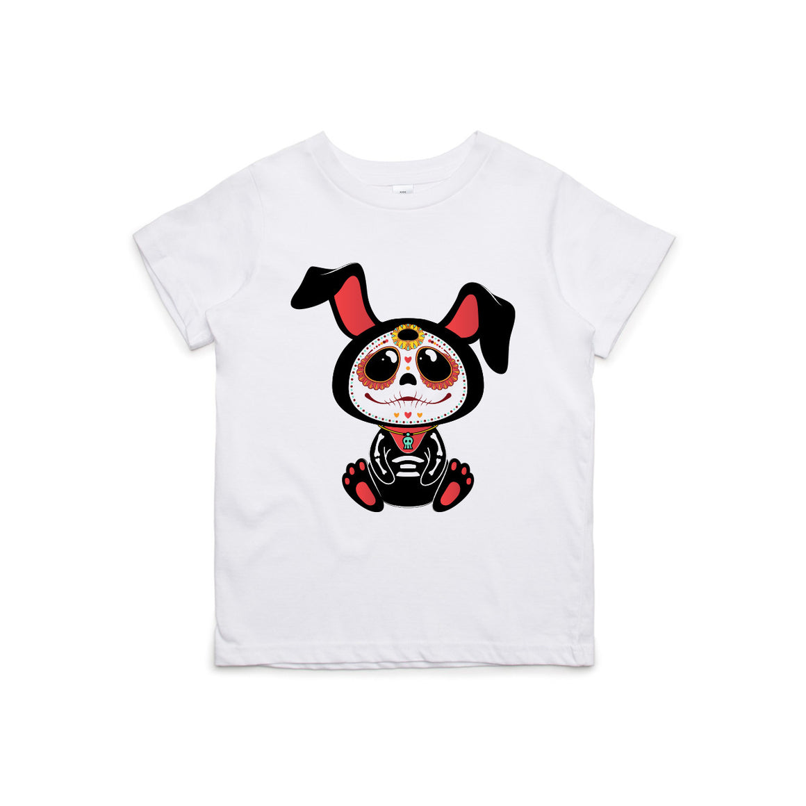 Day of The Dead Bunny Kids T-Shirt