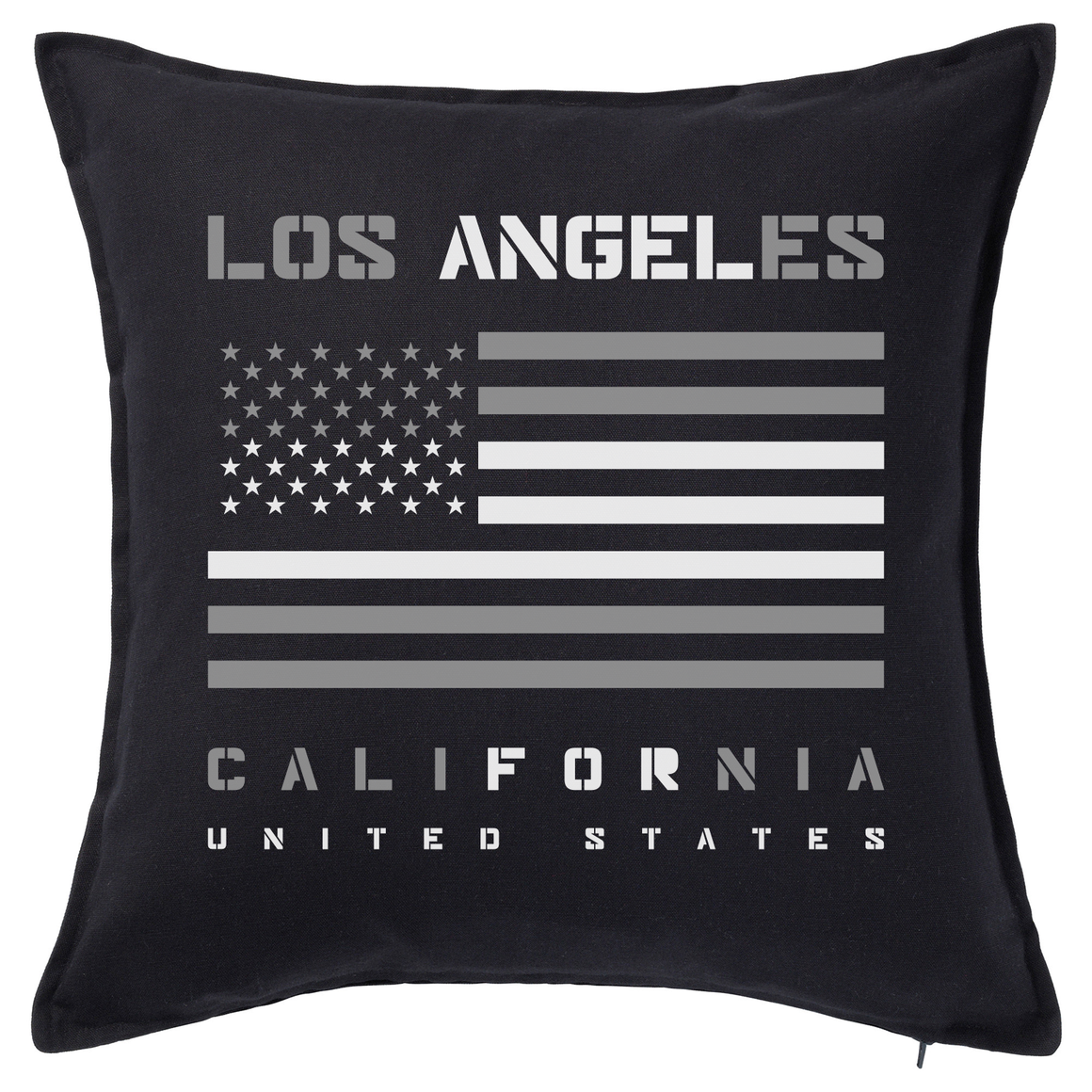 Los Angeles American Flag Feather Cushion