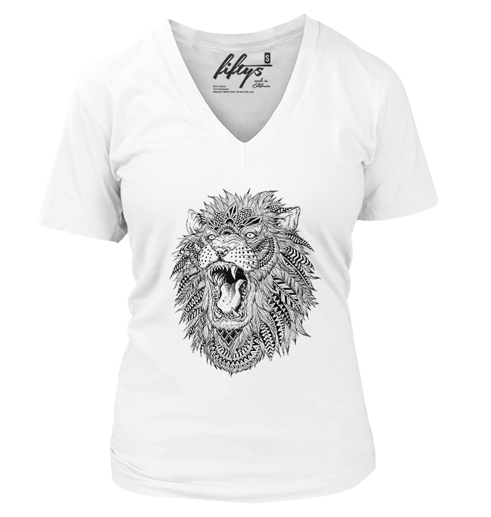Roaring Lion Illustration Women's T Shirt