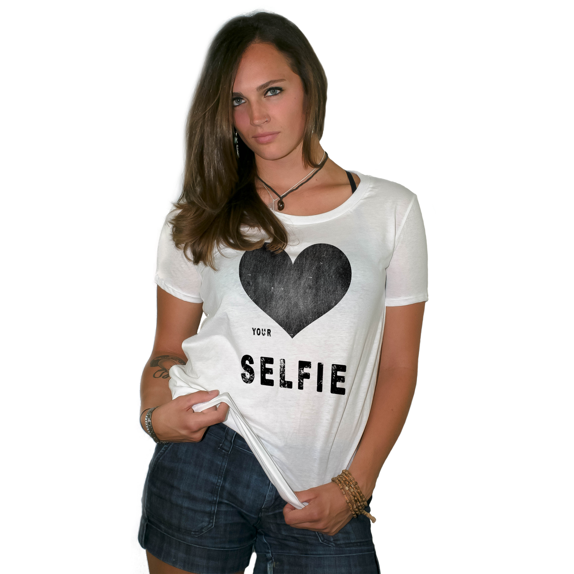 Love Your Selfie Women's Loose Fit Boyfriend T Shirt