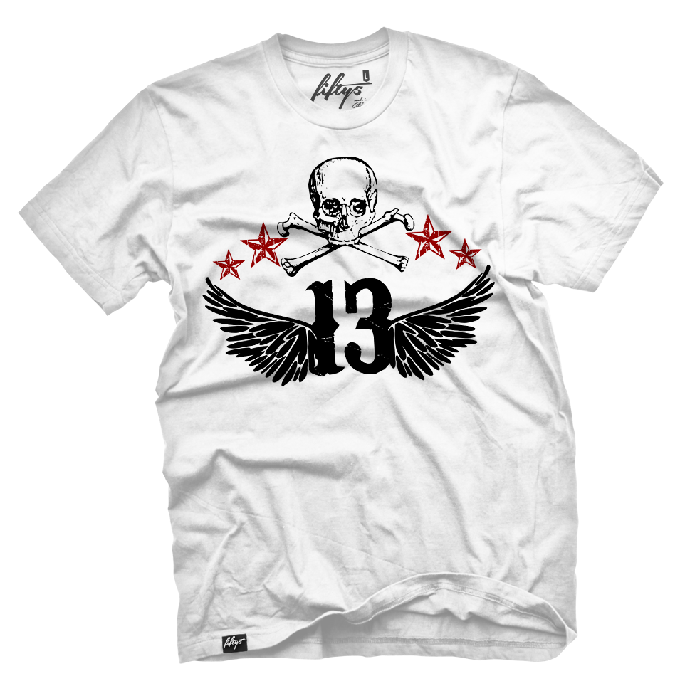 Lucky 13 Skull Men's T Shirt