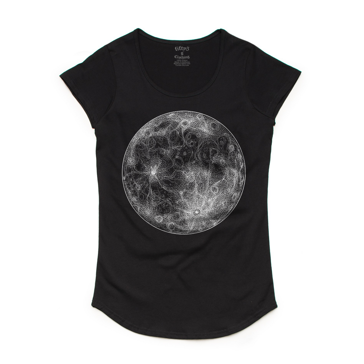 Dotwork Moon Women's Mali Scoop Neck T-Shirt