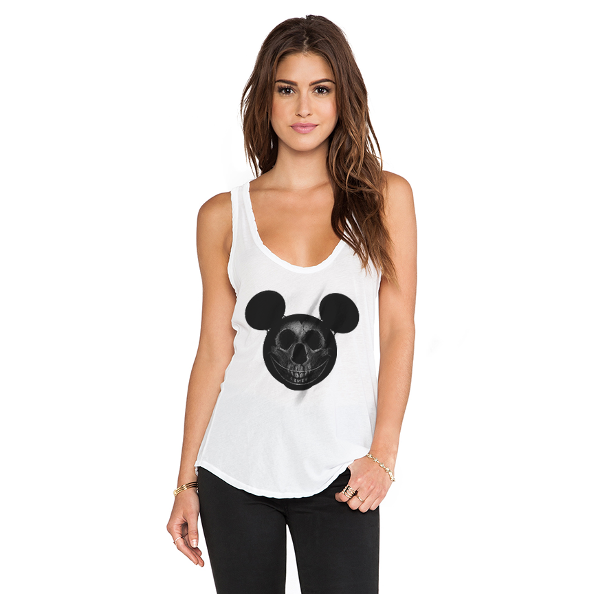 Mouse Skull Women's Racerback Tank Top