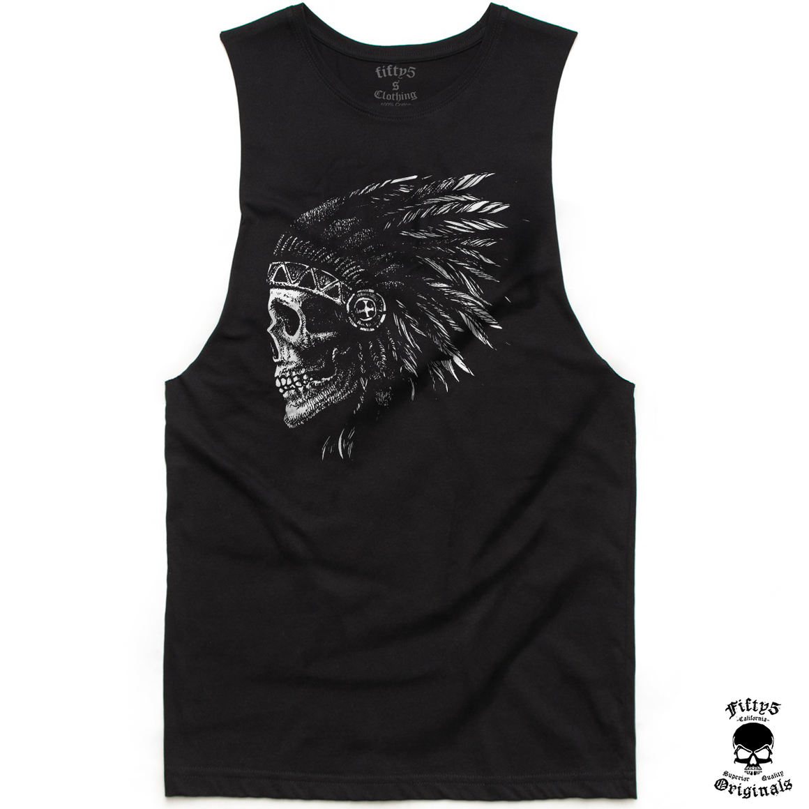 Fifty5 Native Indian Skull Mens Muscle Tank