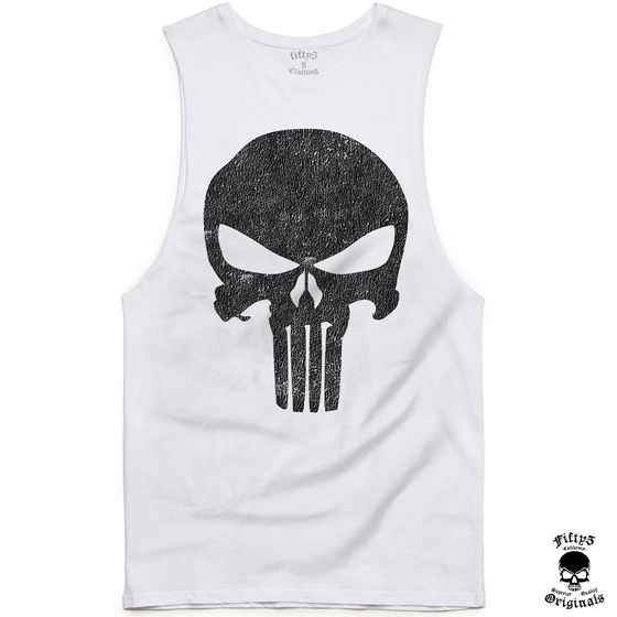 Fifty5 Punisher Skull Mens Muscle Tank