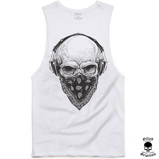 Fifty5 Skull Tunes Mens Muscle Tank
