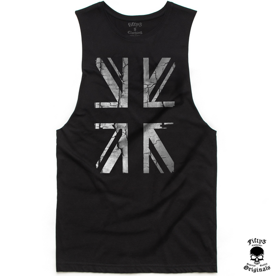 Fifty5 Vintage Union Jack Flag Mens Muscle Tank