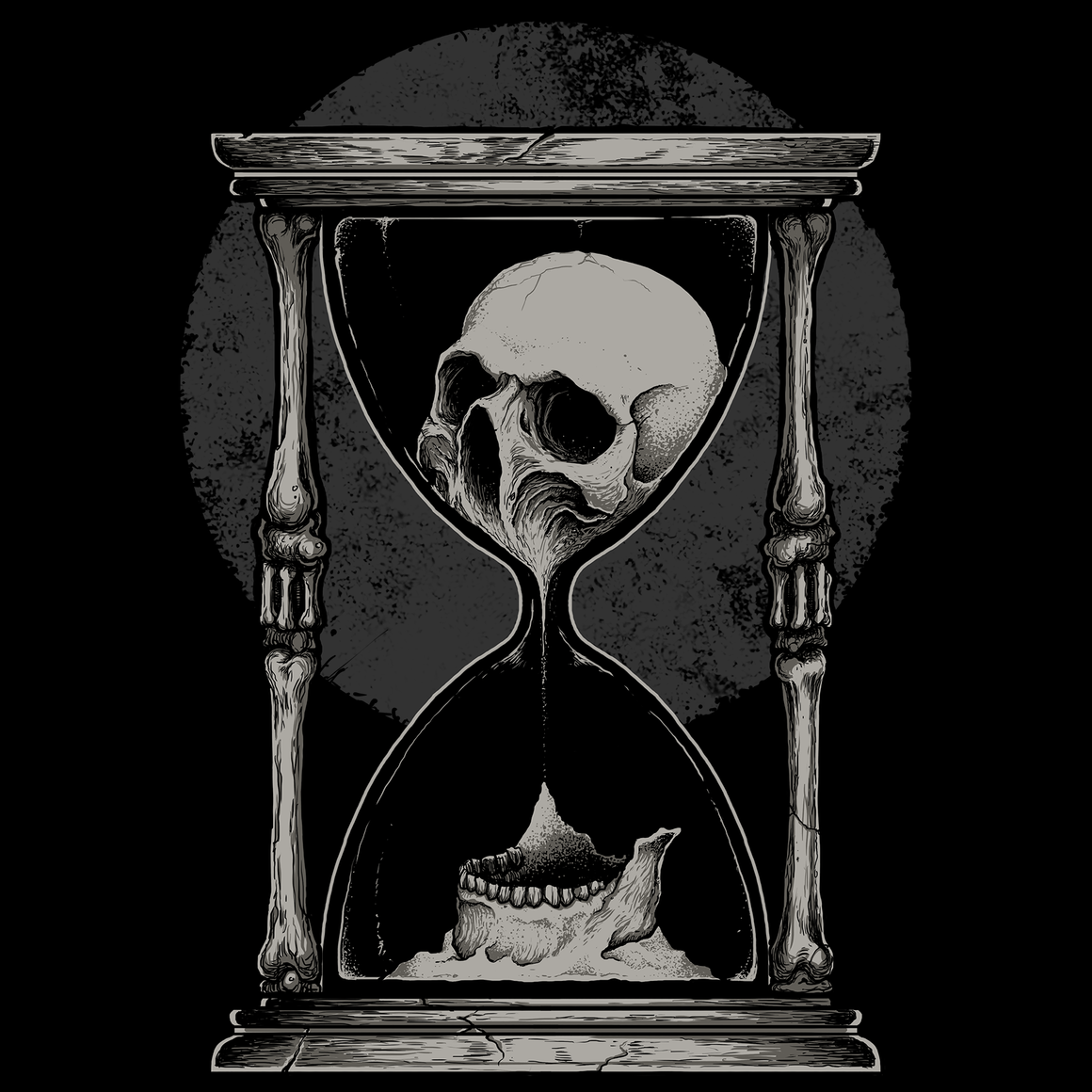 Out of Time Skull Men's T Shirt