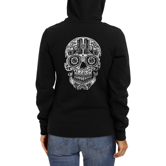 Pistols Sugar Skull Women's Zip Up Hoodie