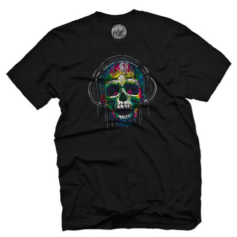 Psychedelic Music Skull Men's T-Shirt
