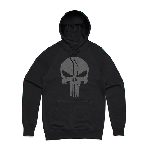 Fifty5 Clothing Punisher Skull Mid Weight Pullover Hoodie