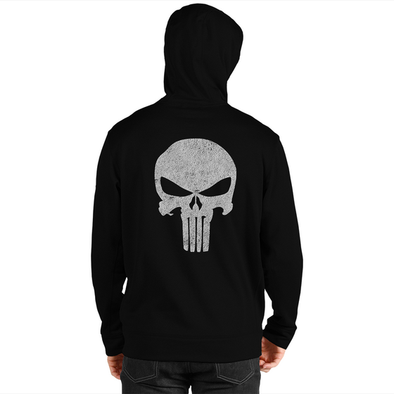 Punisher Skull Men's Zip Up Hoodie