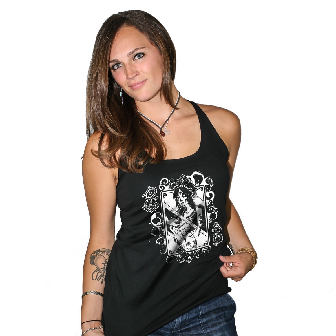 Queen Of Hearts Women's Racerback Tank Top