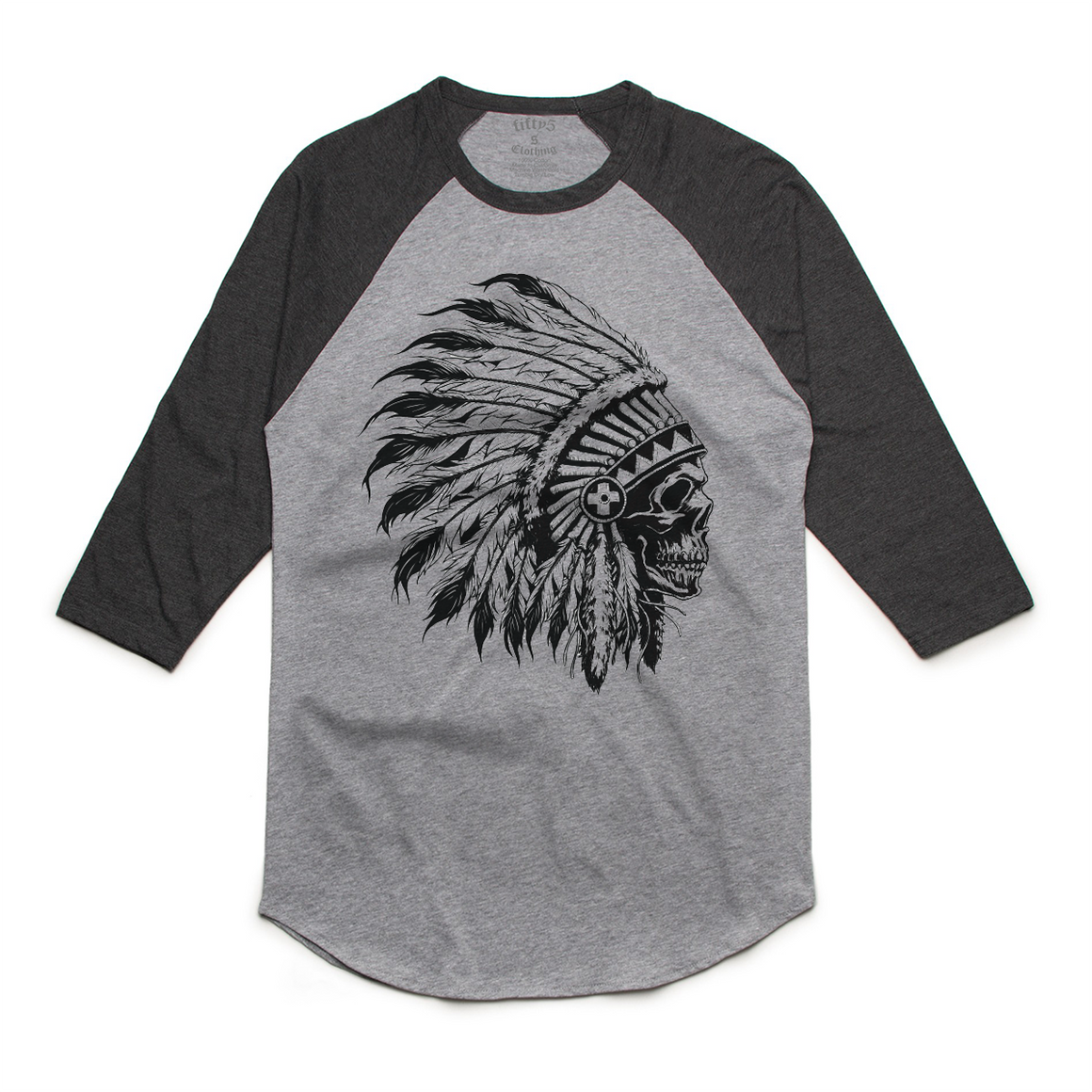 Chief Skull Mens Raglan T Shirt