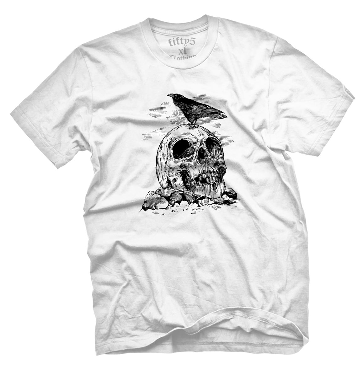 Fifty5 Clothing Raven Skull Men's T Shirt
