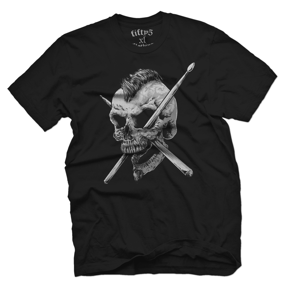 Punk Skull Men's T Shirt