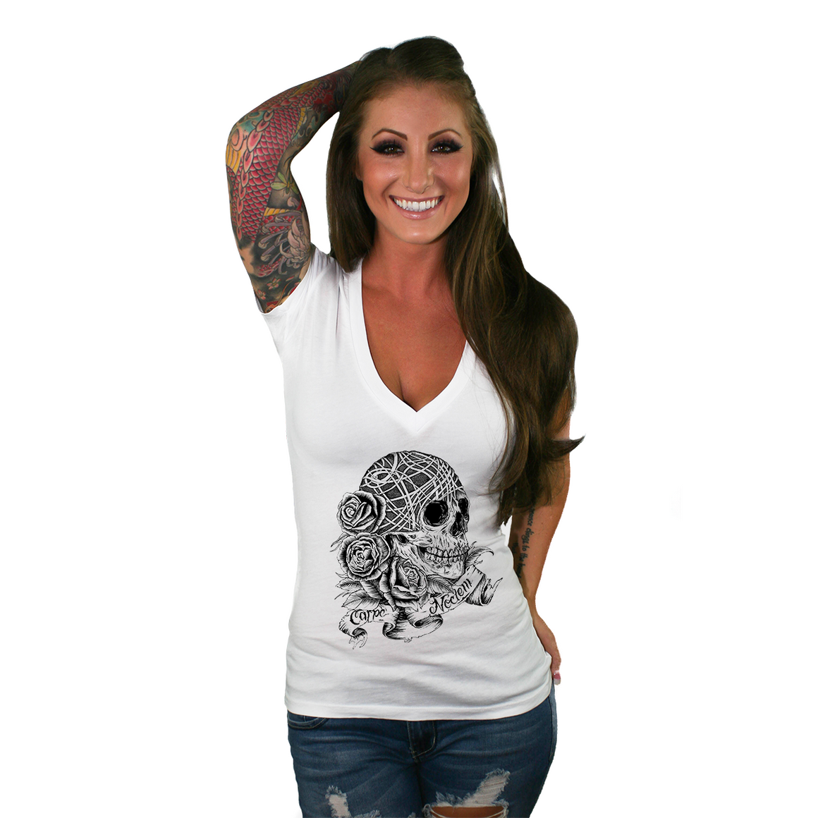 Seize The Night Women's Deep V Neck T Shirt