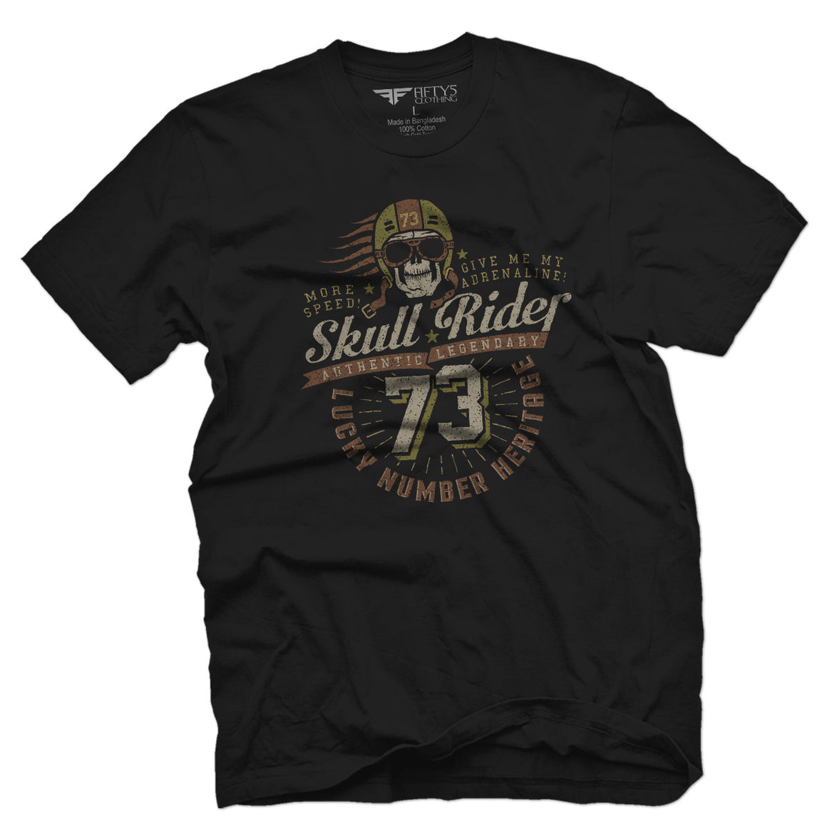 Fifty5 Clothing Skull Rider Men's T Shirt