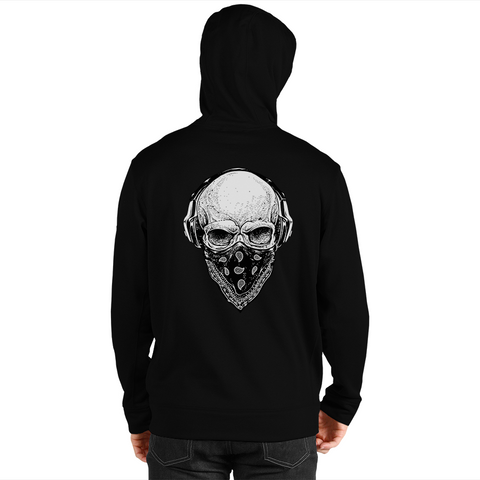 Skull Tunes Men's Zip Up Hoodie