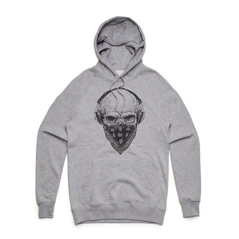 Fifty5 Clothing Skull Tunes Mid Weight Pullover Hoodie
