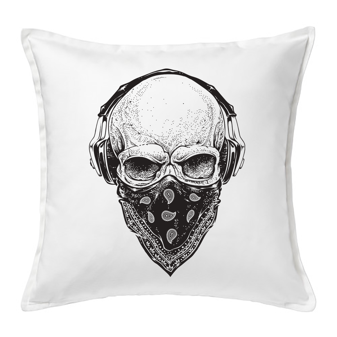 Skull Tunes Cushion Cover