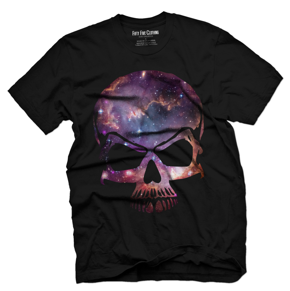 Space Skull Vintage Men's T Shirt
