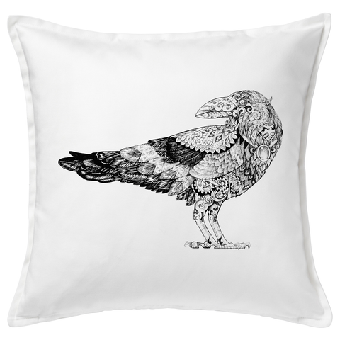 Steampunk Raven 20x20 Throw Cushion