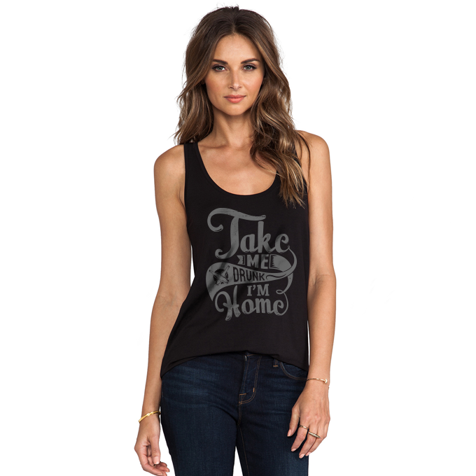 Take Me Drunk I'm Home Women's Racerback Tank Top