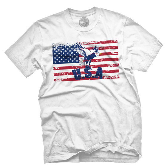 USA Eagle Flag Men's T Shirt