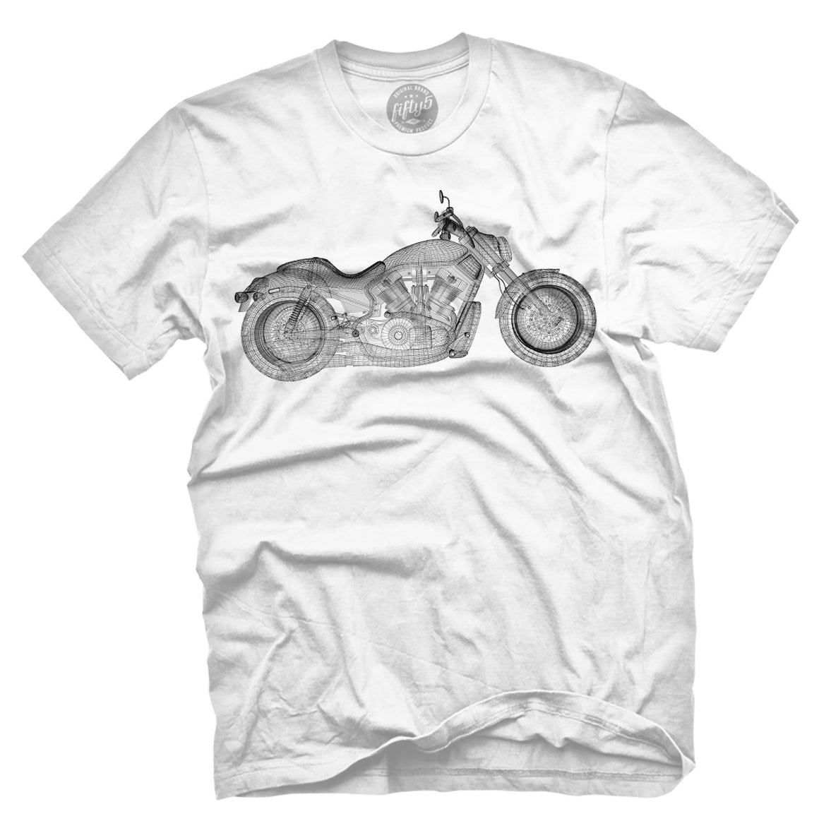 Fifty5 Clothing Wireframe V-Rod Motorcycle Men's T Shirt